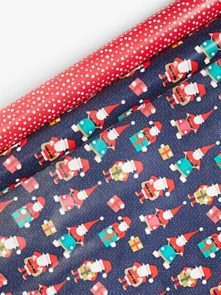 John Lewis & Partners Pop Art Santa Gift Wrap Set
