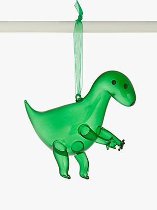 John Lewis & Partners Tyrannosaurus Tree Decoration, Green