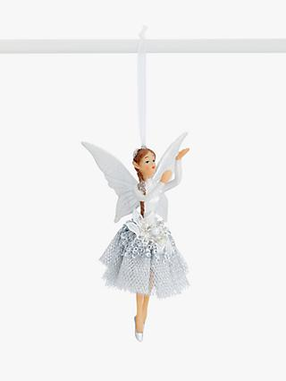 John Lewis & Partners Impressionism Sequin Fairy Tree Decoration, Silver