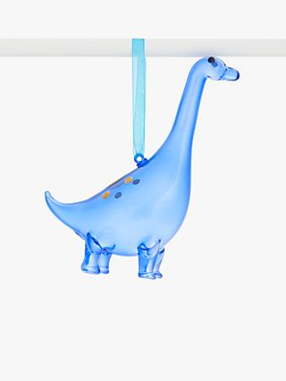 John Lewis & Partners Pop Art Brontosaurus Bauble, Blue