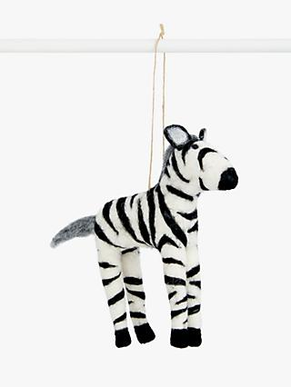 John Lewis & Partners Post Impressionism Zebra Tree Decoration
