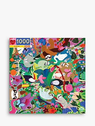 eeBoo Sloths Square Jigsaw Puzzle, 1000 Pieces