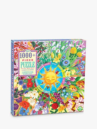 eeBoo Flower Calendar Jigsaw Puzzle, 1000 Pieces
