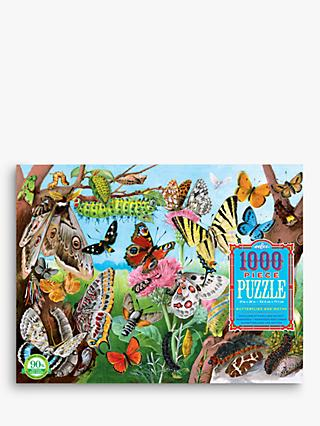 eeBoo Butterflies & Moths Jigsaw Puzzle, 1000 Pieces
