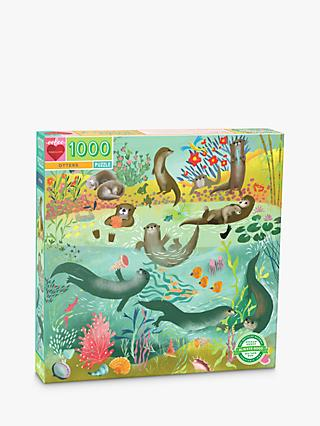 eeBoo Square Otters Jigsaw Puzzle, 1000 Pieces