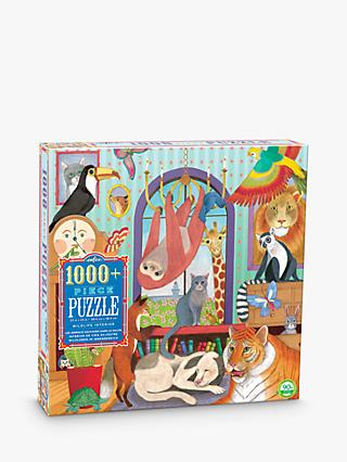 eeBoo Wildlife Interior Jigsaw Puzzle, 1000 Pieces