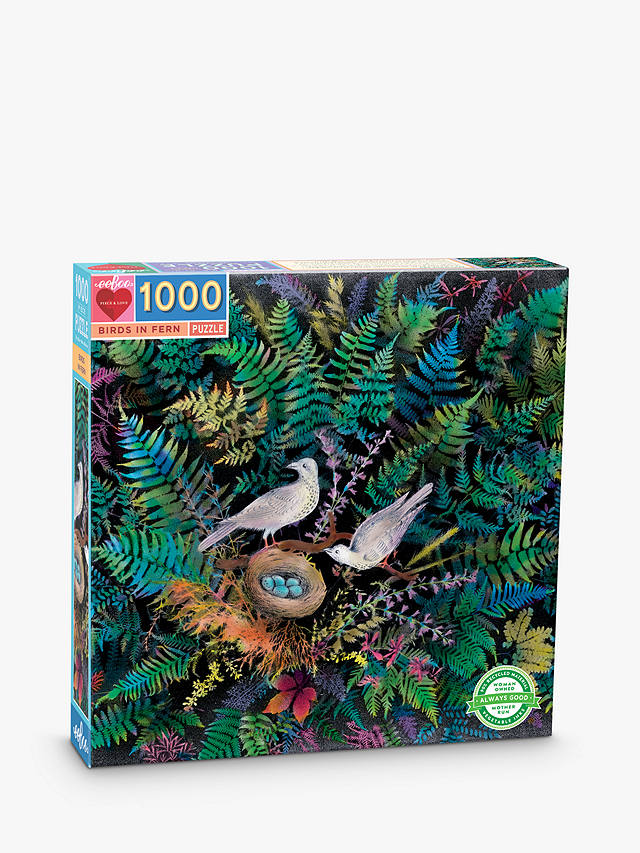 Buy eeBoo Birds in Fern Jigsaw Puzzle, 1000 Pieces Online at johnlewis.com