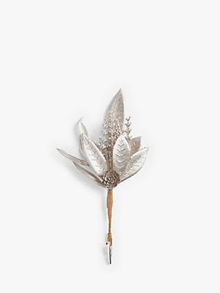 John Lewis & Partners Leaf and Pine Cone Pick, Gold