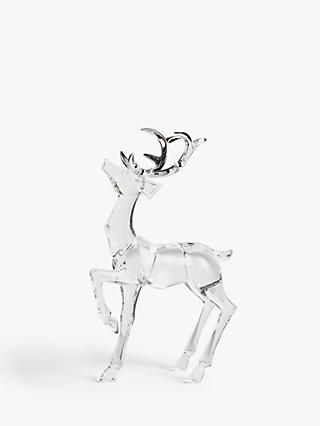 John Lewis & Partners Impressionism Acrylic Stag Decoration, Clear