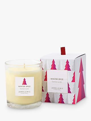 John Lewis & Partners Winter Spice Scented Candle, 548g