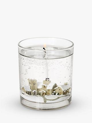 John Lewis & Partners Snow Scene Gel Candle