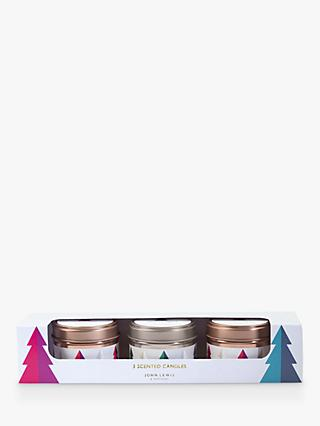 John Lewis & Partners Winter Spice & Frosted Spruce Mini Scented Candles