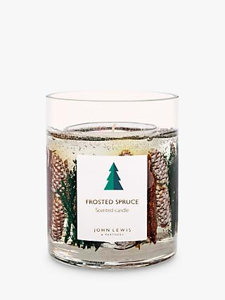 John Lewis & Partners Frosted Spruce Gel Scented Candle