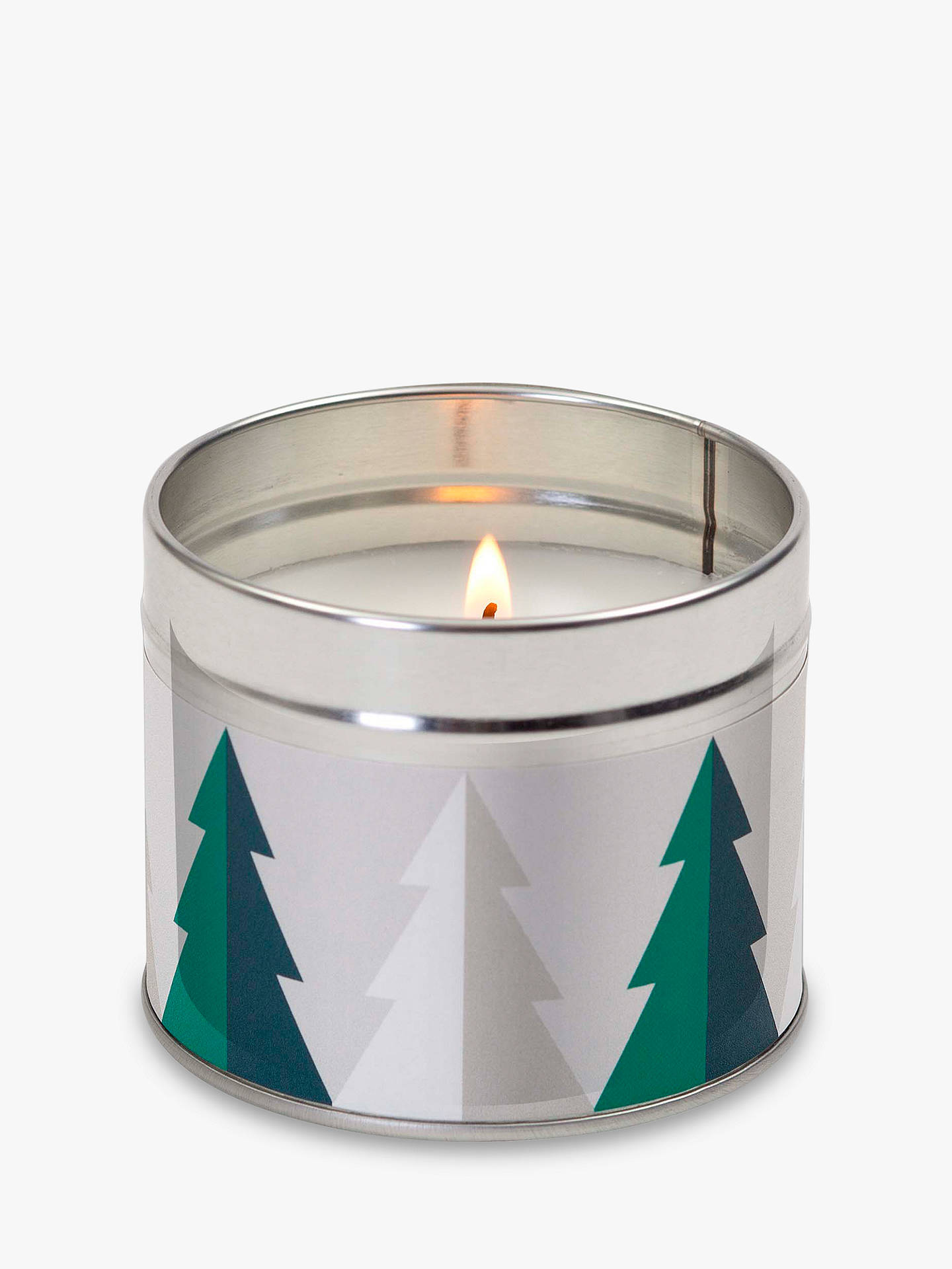 Buy John Lewis & Partners Frosted Spruce Tin Scented Candle, 209g Online at johnlewis.com