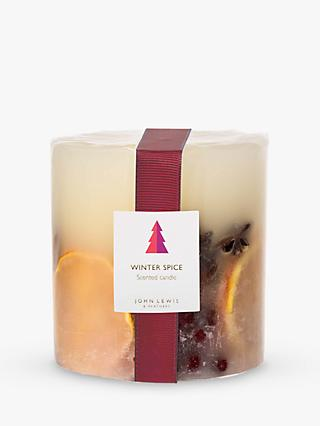John Lewis & Partners Winter Spice Inclusion Scented Candle, 578g