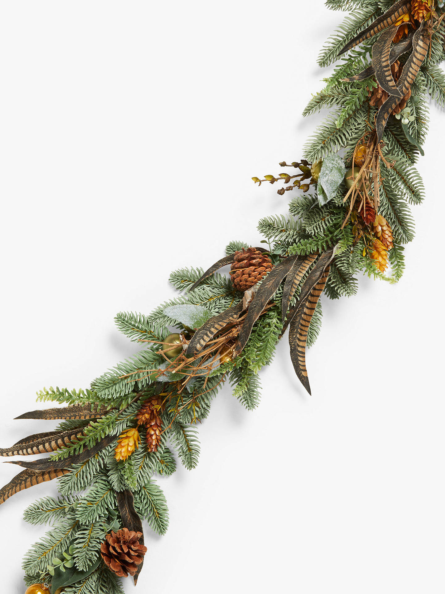 Buy John Lewis & Partners Bloomsbury Faux Pheasant Feather Garland Online at johnlewis.com