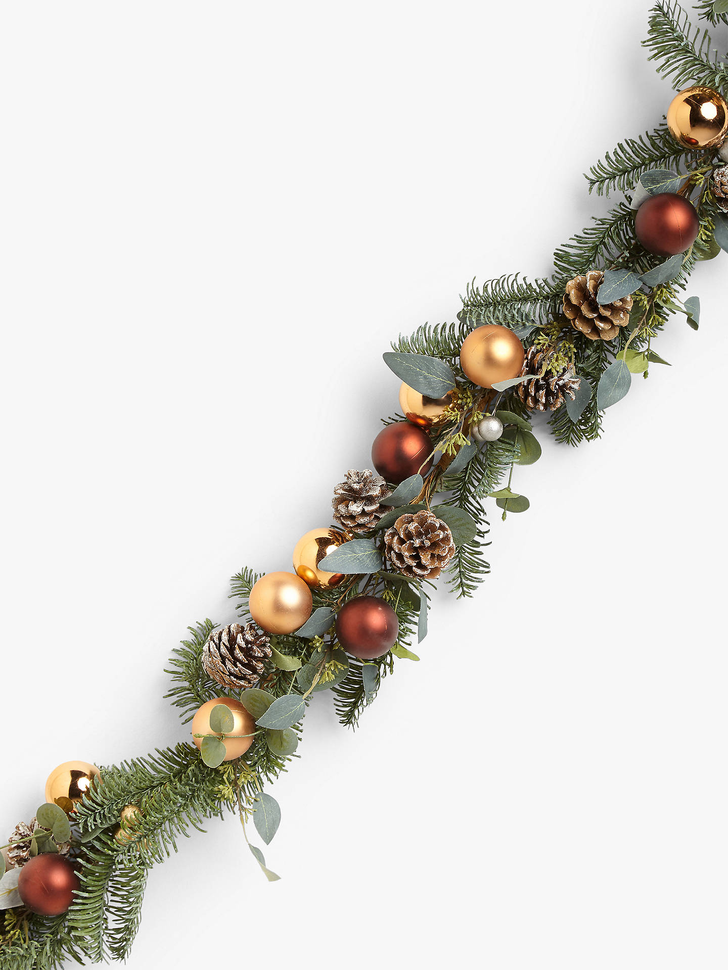 Buy John Lewis & Partners Bloomsbury Copper Bauble Garland Online at johnlewis.com