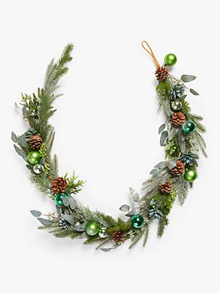 John Lewis & Partners Post Impressionism Bauble Garland, Green