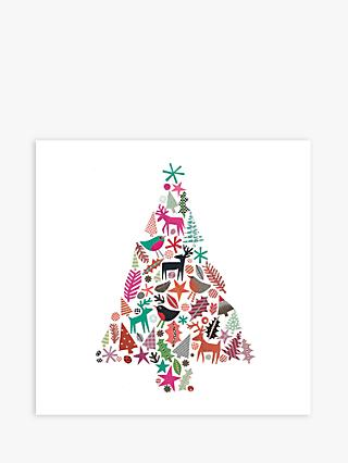 Museums & Galleries Christmas Tree Charity Christmas Cards, Pack of 8