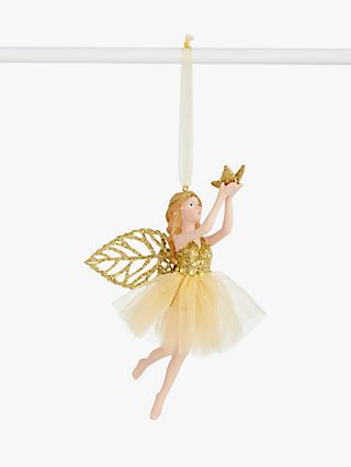 John Lewis & Partners Art Nouveau Fairy Tree Decoration, Gold