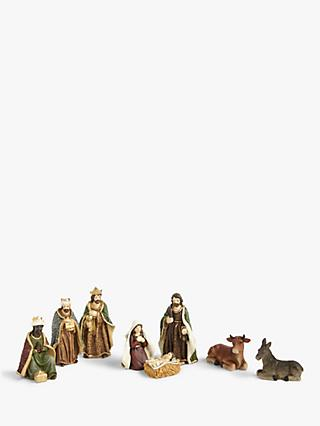 John Lewis & Partners Renaissance Nativity Characters, Set of 8
