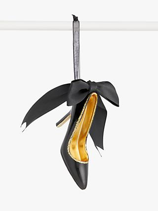 John Lewis & Partners Art Nouveau High Heel Shoe Tree Decoration, Black