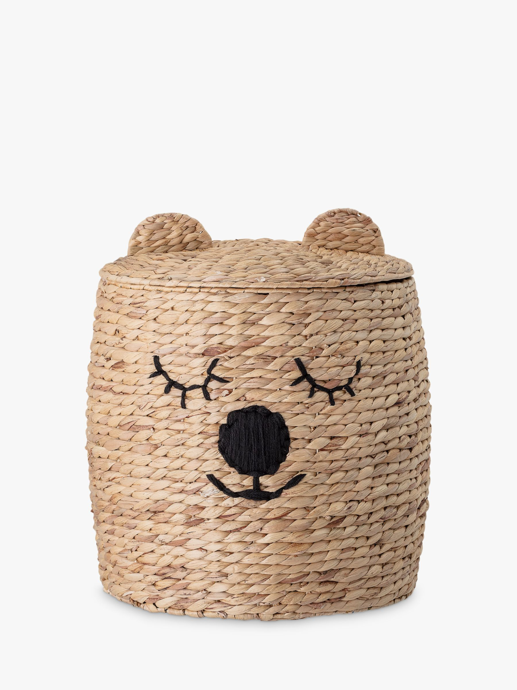 Bloomingville MINI Water Hyacinth Bear Storage Basket, Natural