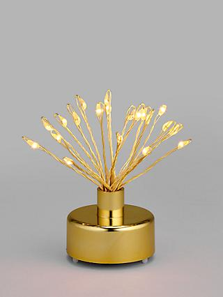 John Lewis & Partners Art Nouveau LED Mini Sparkler Light, Gold, Set of 6