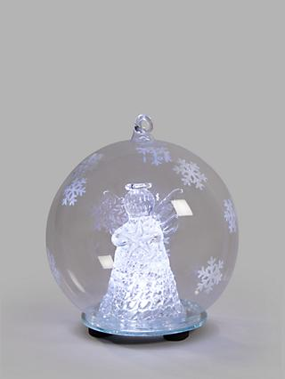 John Lewis & Partners Impressionism Angel Bauble, Clear