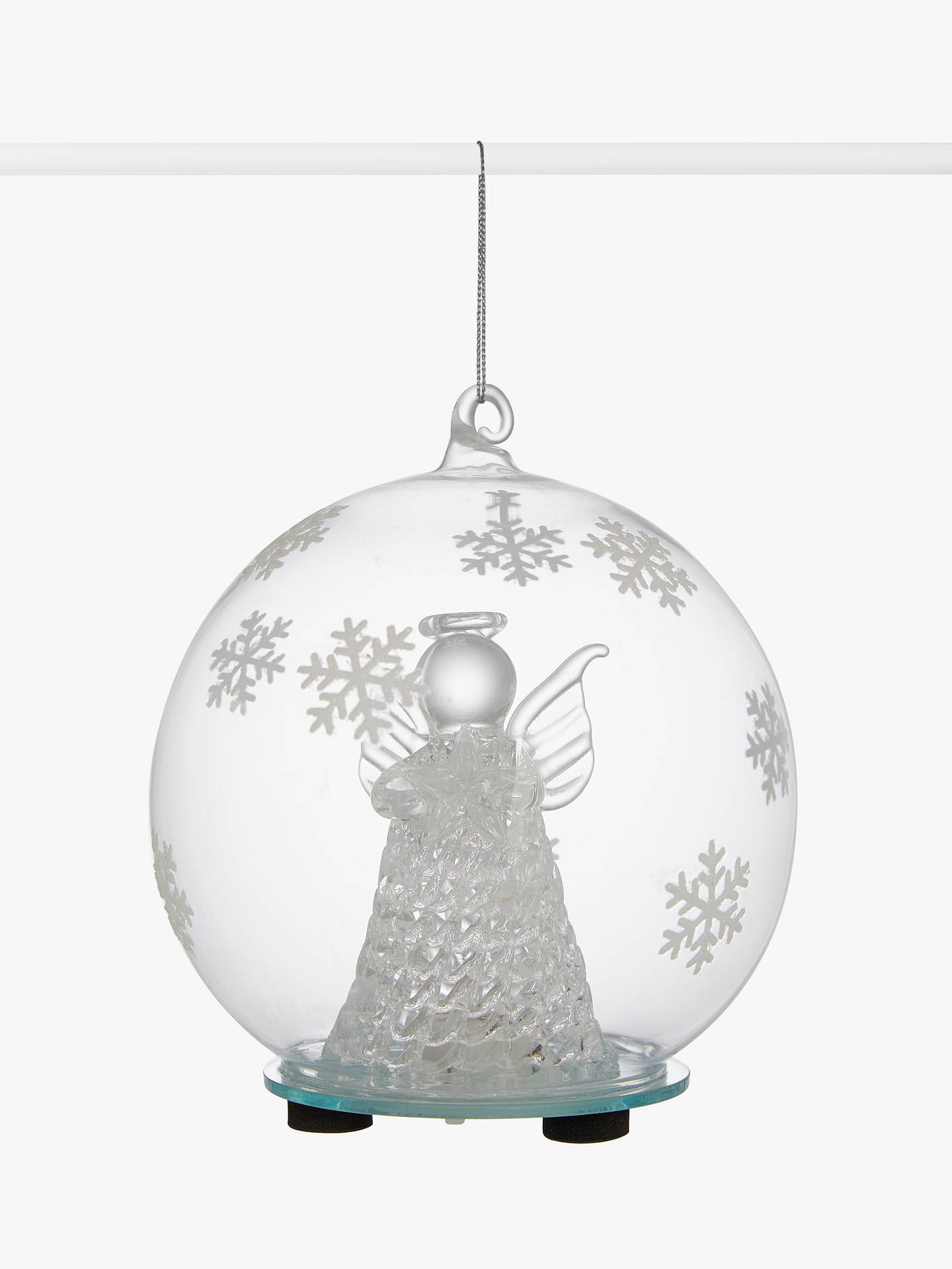 Buy John Lewis & Partners Impressionism Angel Bauble, Clear Online at johnlewis.com