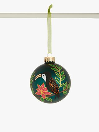 John Lewis & Partners Post Impressionism Toucan and Leaf Bauble, Multi