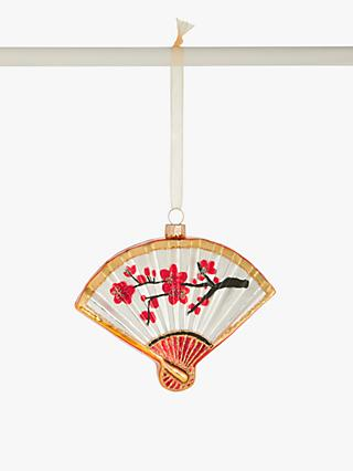 John Lewis & Partners Art of Japan Fan Bauble, Red / Multi