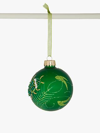 John Lewis & Partners Post Impressionism Leafy Bug Bauble, Green
