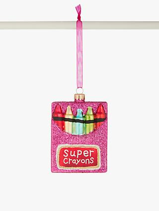 John Lewis & Partners Pop Art Crayons Bauble, Multi