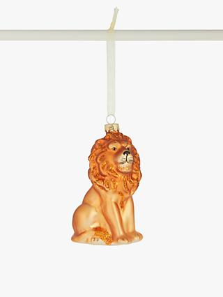 John Lewis & Partners Post Impressionism Lion Bauble, Gold