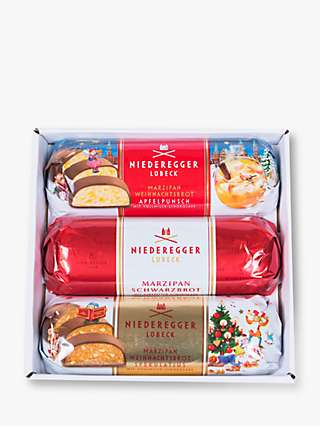 Niederegger Christmas Marzipan Loaves, 3x 125g