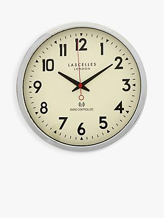 Lascelles Radio Controlled Arabic Numeral Analogue Wall Clock, 36cm