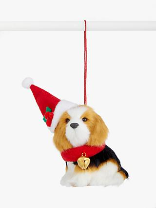 John Lewis & Partners Bloomsbury Furry Dog Tree Decoration