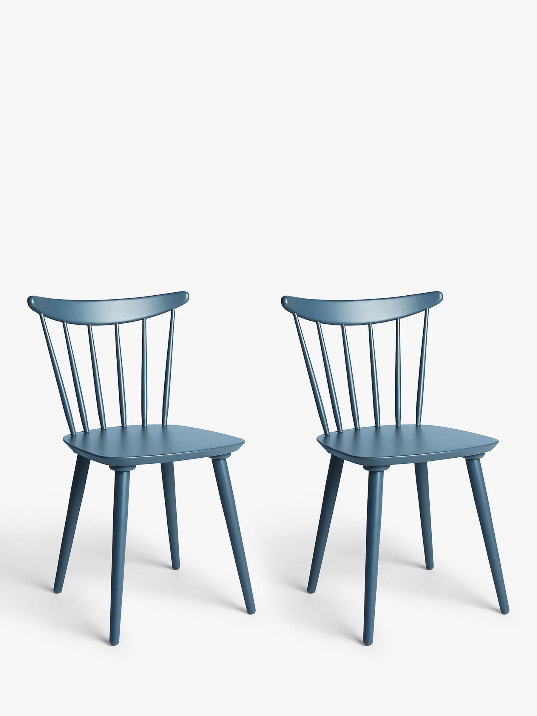 ANYDAY John Lewis & Partners Spindle Dining Chair, Set of 9, Blue