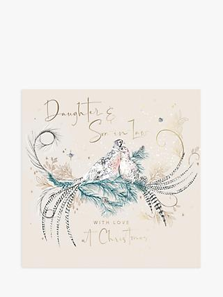 Woodmansterne Pheasants Daughter & Son-in-Law Christmas Card