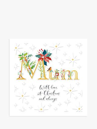 Woodmansterne Floral With Love Mum Christmas Card