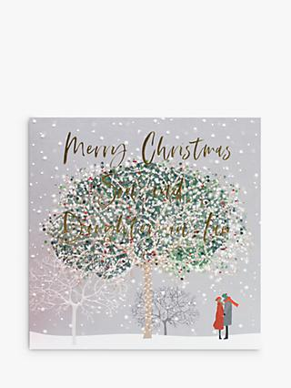 Belly Button Designs Tree Son & Daughter-in-Law Christmas Card