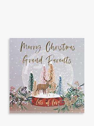 Belly Button Designs Snow Globe Grandparents Christmas Card