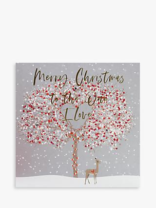 Belly Button Designs One I Love Tree Christmas Card