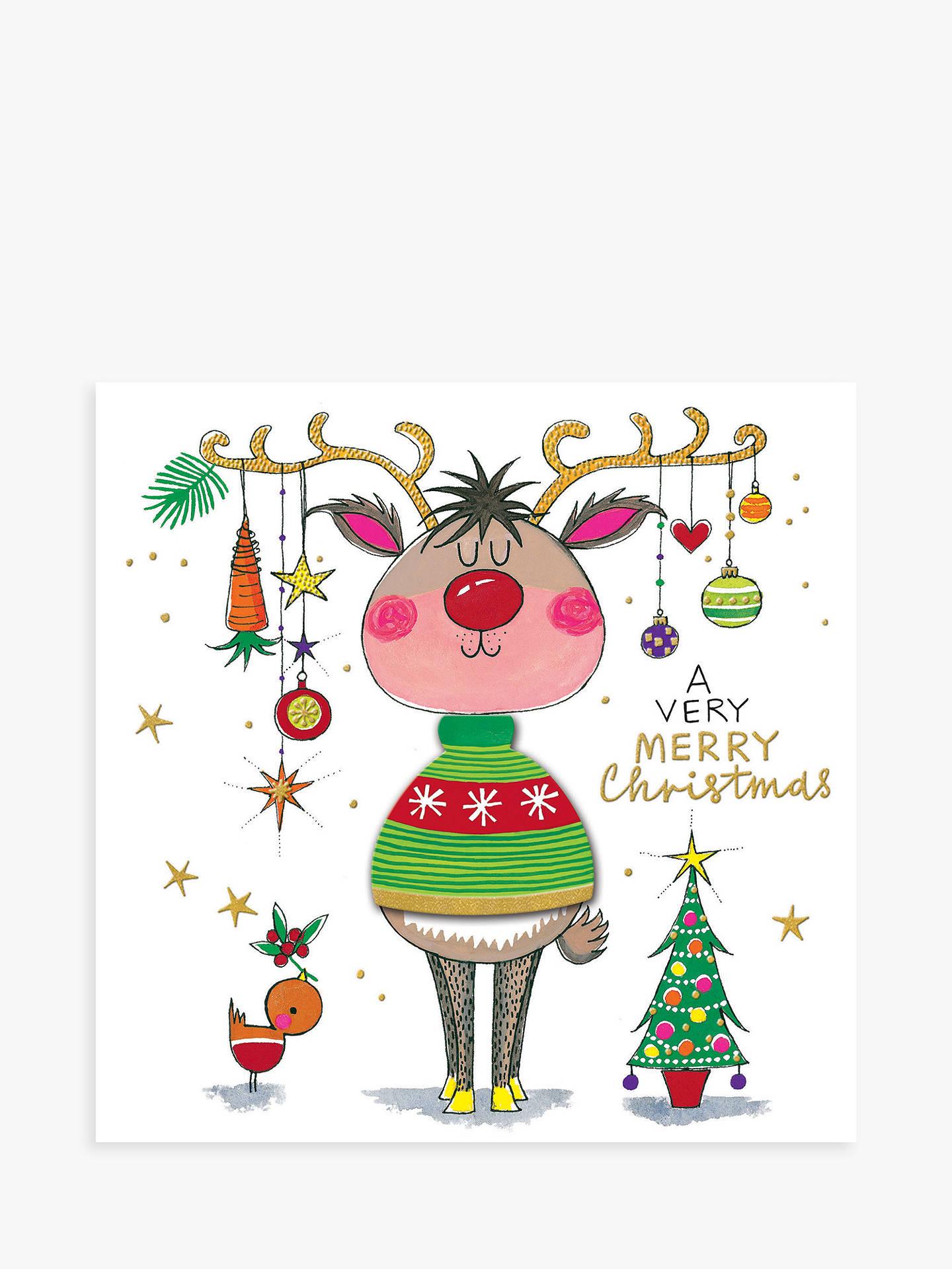 Rachel Ellen Reindeer Jumper Christmas Card at John Lewis & Partners