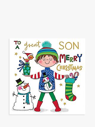 Rachel Ellen Snowman Jumper Son Christmas Card