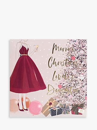 Belly Button Designs Lady Lovely Daughter Christmas Card