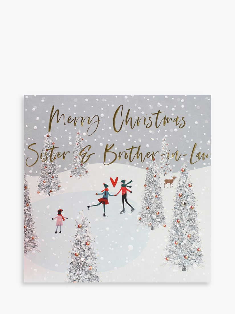 Belly Button Designs Skating Sister Brother In Law Christmas Card At John Lewis Partners