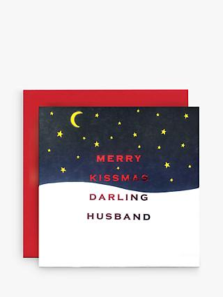 Susan O'Hanlon Merry Kissmas Husband Christmas Card