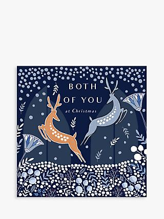 Woodmansterne Prancing Reindeer Both of You Christmas Card